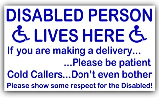 Disabled Person Lives Here Door Sign (Sticker)