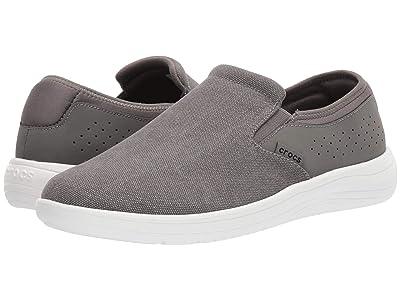 Crocs Reviva Canvas Slip-On (Slate Grey/White) Men