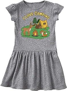 inktastic I Love Camping Animals Toddler Dress