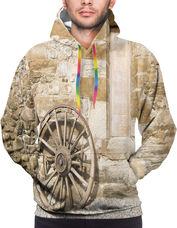 TENJONE Men's Hoodies Sweatshirts,Ancient Ritual Symbol of Universe Cultural Center Point Balance Meditation Theme