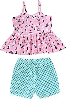 CCSDR Toddler Kids Baby Girls Bikini Beachwear Swimsuit Bat Shirt Tassel Smock