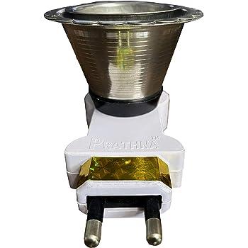 Prathna Works Stainless Electric Dhoop Dani Incense Burner_Set of 1