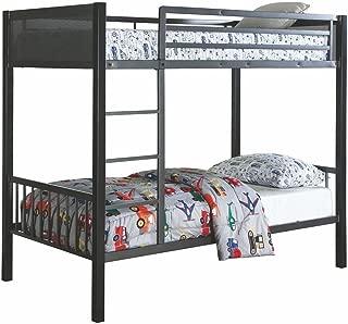 Coaster CO- Twin Bunk Bed, Black/Gunmetal