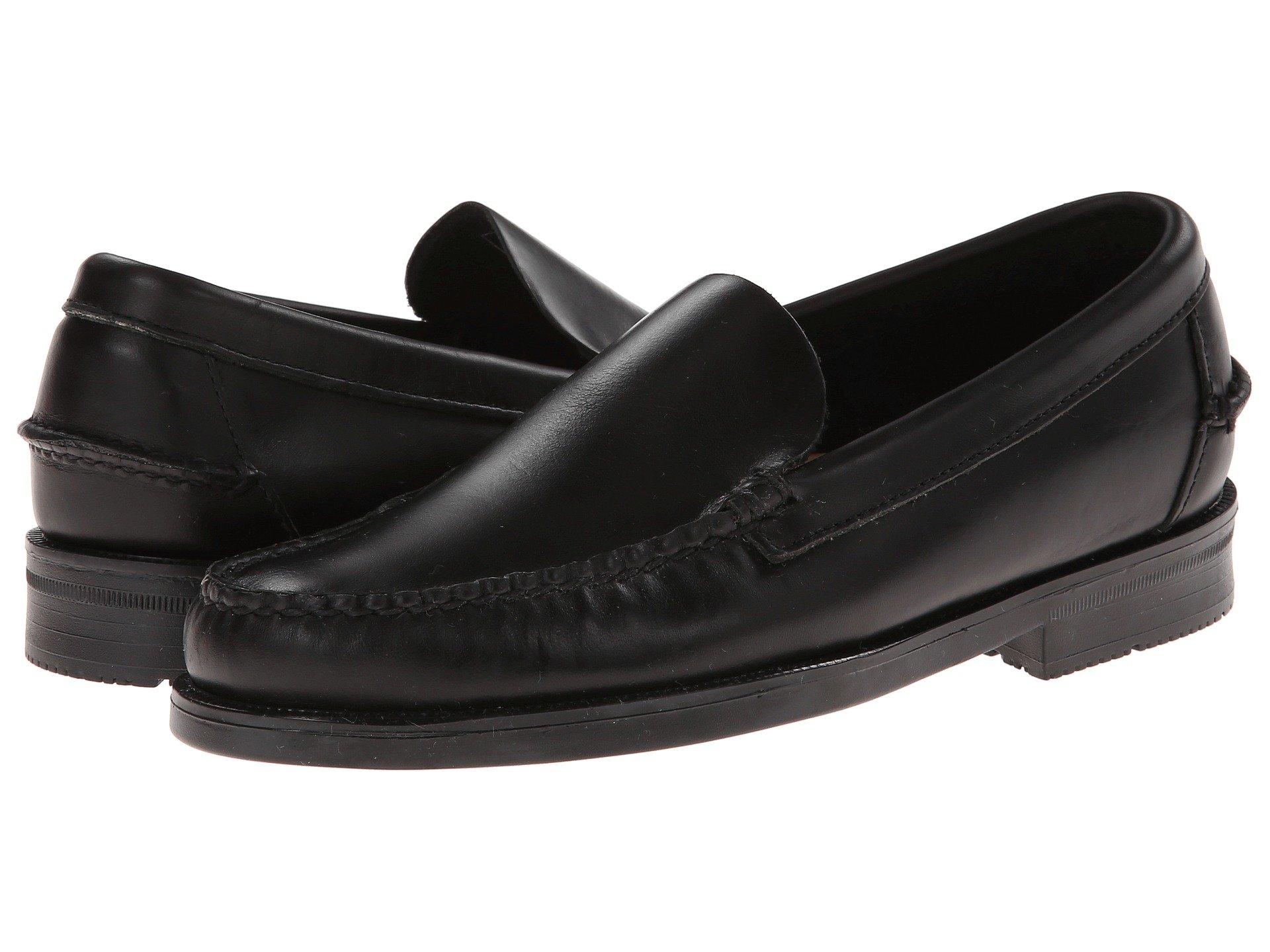 New Sebago Grant Venetian Men's Shoes, Black Leather