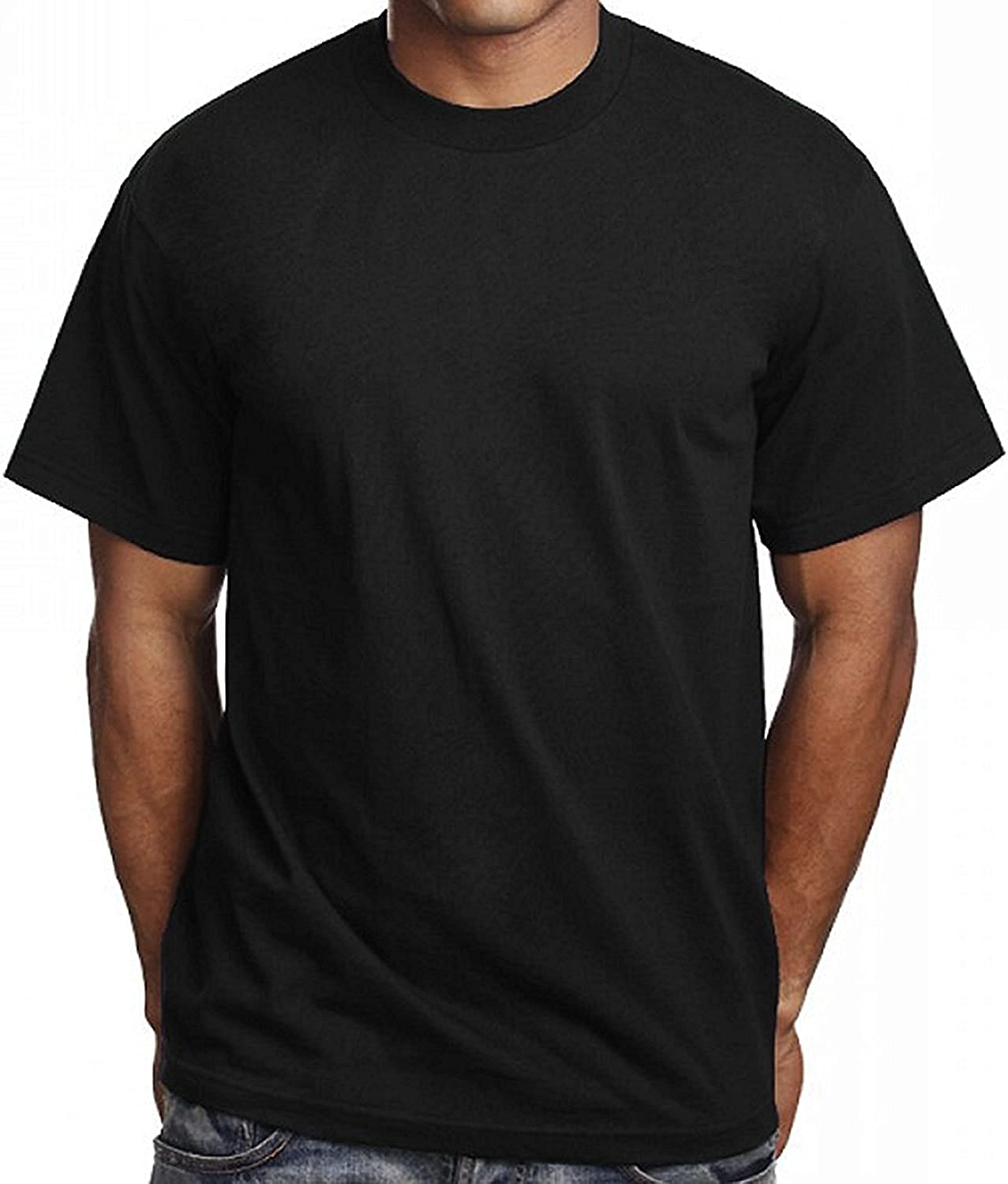 3 Pack Our shop OFFers Bombing new work the best service Men's Plain Black T Shirts Athletic 5 Pro Blank Tees