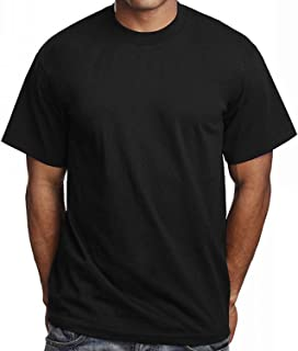 3 Pack Men's Plain Black T Shirts Pro 5 Athletic Blank Tees