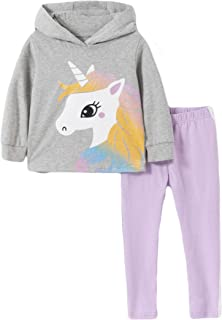 Sponsored Ad - Toddler Baby Girls Clothing Set Cute Print Long Sleeve T Shirt and Pants 2pcs Outfits