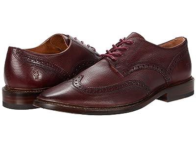 Frye Paul Wingtip (Oxblood Soft Pebbled Leather) Men