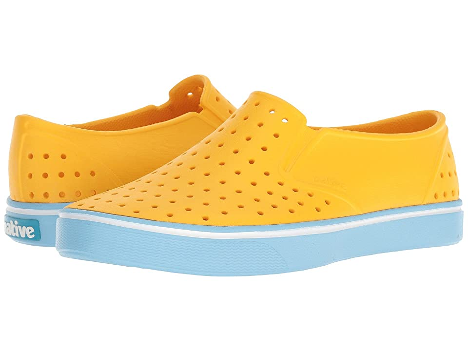 Native Shoes Miles (Groovy Yellow/Sky Blue) Athletic Shoes