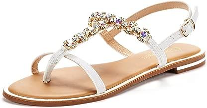 DREAM PAIRS Women's T-Strap Flat Sandals