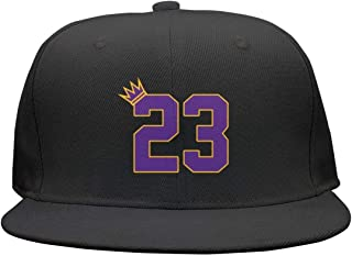 HAPPOBASKA La-23-KING Flat Bill Adjustable Hat Snap Snapback Cap Men & Women Hip-Hop