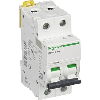 Schneider Electric a9//°F74420/IC60/N disjoncteur Blanc 4P 85/mm Hauteur X 72/mm largeur X 78.5/mm profondeur courbure C 20/A Courant acti9 50//60/HZ