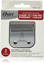 """Oster Professional 76918-126 Replacement Blade, Classic 76/Star-Teq/Power-Teq Clippers, Size #2, 1/4"""" (6.3 mm)"""