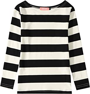 Big Girl's Classic Long Sleeve Cotton Stripe Tee T-Shirt