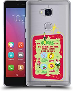 Official Elf Movie Food Groups Graphics 1 Soft Gel Case Compatible for Huawei Honor 5X / GR5