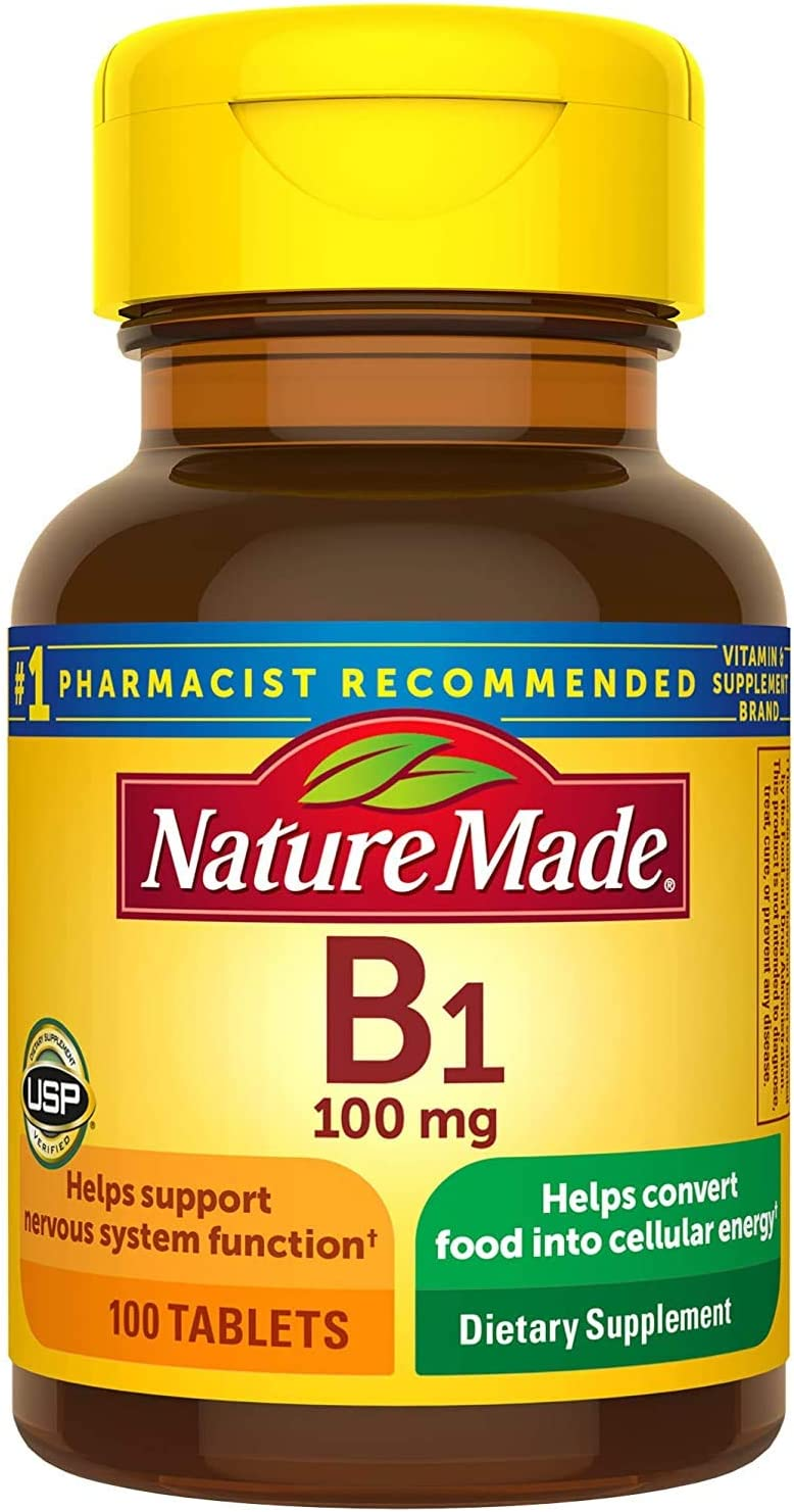 Nature Made B1 100 Mg Pack Count 5 Bombing free Max 52% OFF shipping