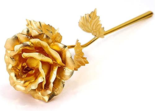 Valentine Gifts for Girlfriend/Wife : YouBella Jewellery Gold Plated Rose Flower with Gift Box