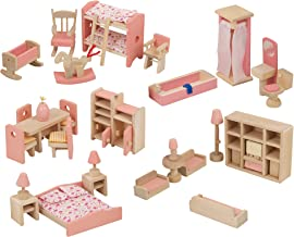 Wooden Simulation Toys Set Miniature House Furniture for Kids Pretend Play UK
