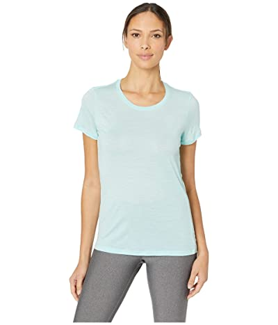 Icebreaker Tech Lite Merino Short Sleeve Low Crewe (Aqua Splash) Women