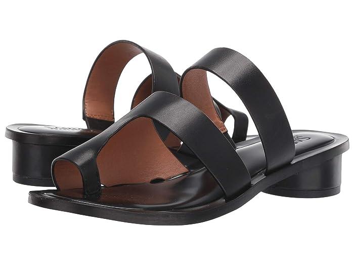 Franco Sarto  Trixie (Black Leather) Womens Flat Shoes