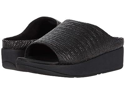 FitFlop Imogen Basket Weave Slides (All Black) Women
