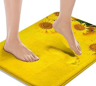 Britimes Sunflower Yellow Bath Mats for Bathroom, Bathroom Mats Rugs No Silp, Washable Cover Floor Rug Carpets Floor Mat B...