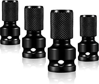 4 Pieces 1//2 Inches Square to 1//4 Inches Hex Female Socket Impact Adapter with Aprons and Sockets Socket Extension Kit Accessories for Pneumatic and Electric Wrenches