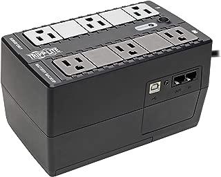 Tripp Lite INTERNET350U 350VA 180W UPS Desktop Battery Back Up Compact 120V USB RJ11 PC, 6 Outlets, Black