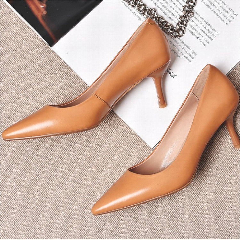 SED Spitze Einzelne Schuhe, Sommer mit Sommerschuhen Temperament Schaffell Schuhe Schuhe OL mit Nude Farbe High Heel  Auslauf
