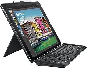 Logitech iPad Pro 12.9 inch Keyboard Case | SLIM COMBO with Detachable, Backlit, Wireless Keyboard and Smart Connector (Black) (Renewed)