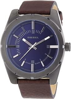 Diesel DZ1598 Mens Good Company Brown Leather Strap Watch