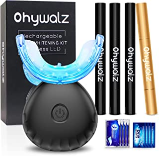 Sponsored Ad - Ohywalz Teeth Whitening Kit with LED Light for Sensitive Teeth,(3)3ml Teeth Whitening Gel Pens, (1)Extra-...