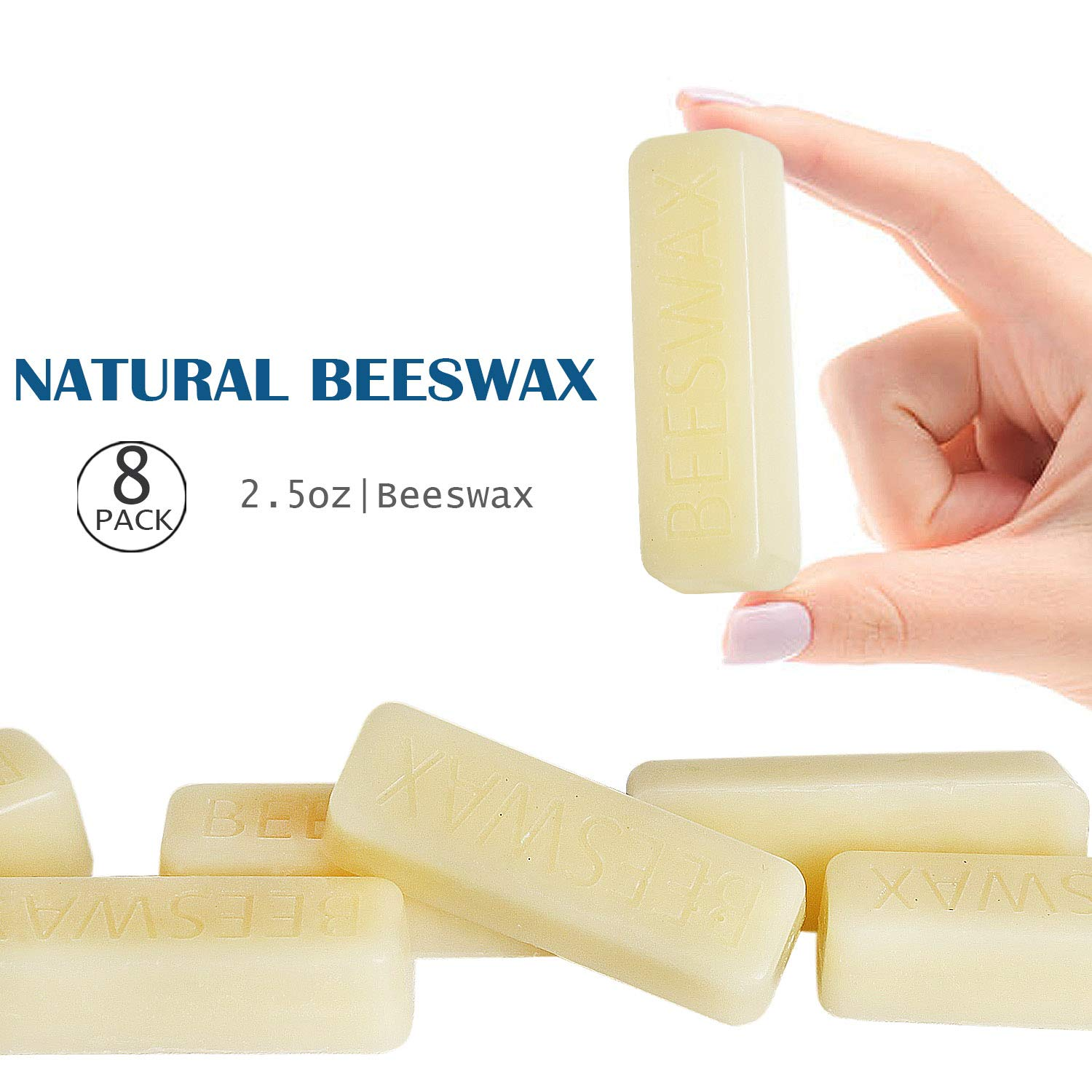 Easy Melt Bricks- for DIY 3X Filtered 8x1oz Bars Skin Care Lip Balm Bees Wax Pure Bees Wax YYHC White Beeswax Bars Candles