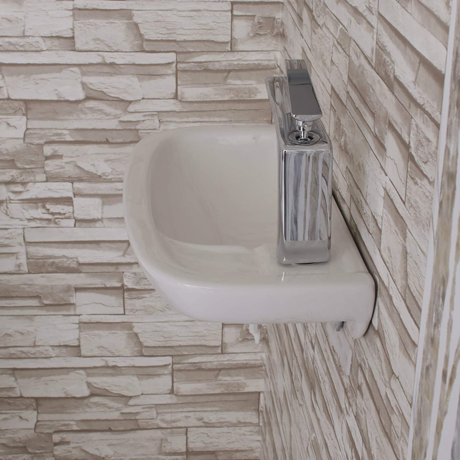 Buy Fine Fixtures Small Wall Mounted Bathroom Sink Mounting Hardware Included Online In Hungary B012tu3msk