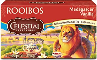 Celestial Seasonings Herbal Tea, Rooibos Madagascar Vanilla, 20 Count (Pack of 6)