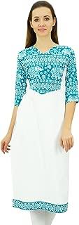 Phagun Women's Cotton Designer Kurta Tunic Ethnic 3/4 Sleeve Kurta