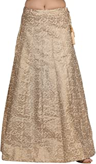 Dream Desi Women's Cotton Golden Skirt for All Plus Size and Small Size (143-GOLDEN)
