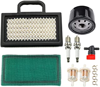 MIU11286 Air Filter with AM125424 Oil Filter for John Deere LA120 LA130 LA135 LA140 LA145 LA150 X130R X140 X155R X165 D130 D140 L111 L118 L120 Lawn Mower Tractor Snow Blower AM116304 Fuel Filter