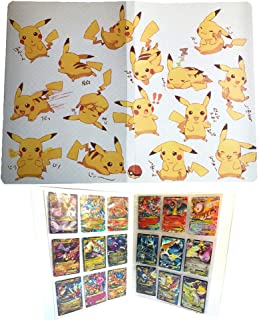 Card Holder Collection Handbook Trading Card Album for Pokemon Holds up to 324 Trading Cards (Pikachu Cover Yellow Deluxe Edition
