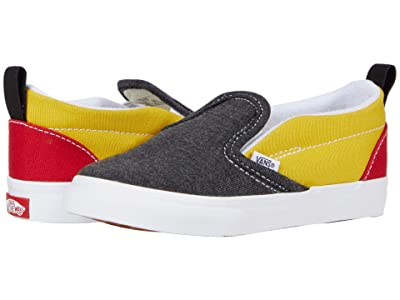Vans Kids Slip-On V (Infant/Toddler) ((Vans Coastal) Black/True White) Boys Shoes