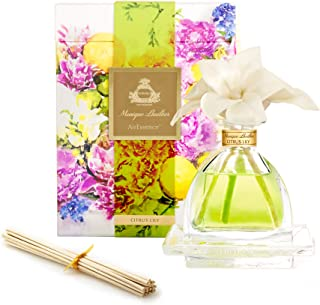 AGRARIA Monique Lhuillier Citrus Lily Scented AirEssence Diffuser, 7.4 Ounces with Reeds and Flowers