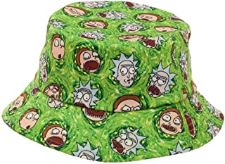 RICK AND MORTY Cartoon Network Portal Bucket Hat Green