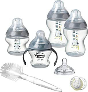 Tommee Tippee Closer to Nature Newborn Baby Bottle Feeding Starter Set, Ollie The Owl