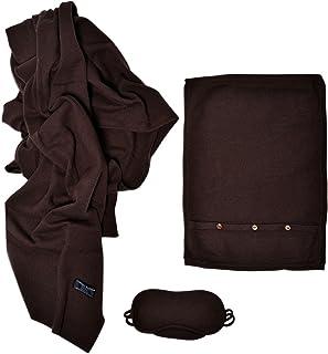 Cashmere Boutique: 100% Pure Cashmere Travel Throw Set (8 Colors, One Size)