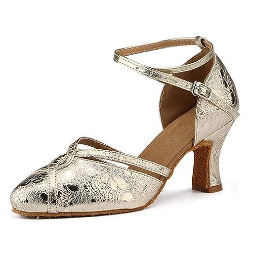 9e6ff1c71 Honeystore Women s Latin 1920s Mary Jane Ballroom Dance Shoes Prom  Performance Salsa Ankle Strap