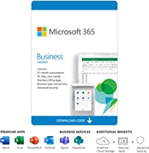Microsoft 365 Business Standard | 12-Month Subscription, 1 Person | Premium Office Apps | 1TB OneDrive Cloud Storage | PC/...