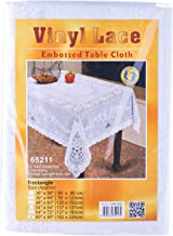 """Dolphin Collection Vinyl Lace Tablecloth, 60x90"""", Oblong"""