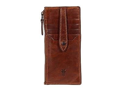 Frye Melissa Snap Card Wallet (Cognac) Handbags
