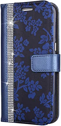Galaxy Edge Case  SONWO Leather Magnetic Flip Wallet Book Cover Case with TPU Inner Shell  Magnetic Closure  Card Slots for Samsung Galaxy Edge  Blue