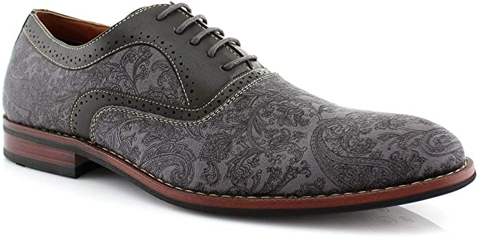 Edwardian Men's Fashion & Clothing 1900-1910s Ferro Aldo Garrett MFA19623L Men's Classic Vegan Leather Lace-Up Oxford Formal Dress Shoes  AT vintagedancer.com